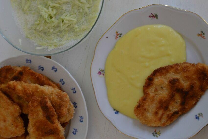 kuřecí řízky s bramborovým pyré