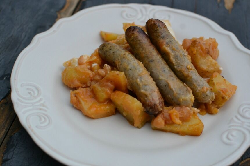 klobásky s brambory