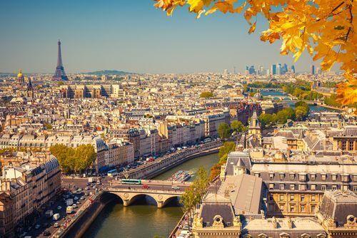 Paříž pohled na město