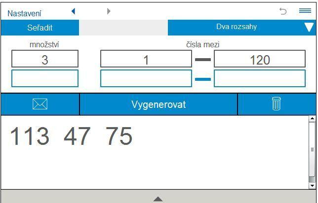generator náhodných čísel
