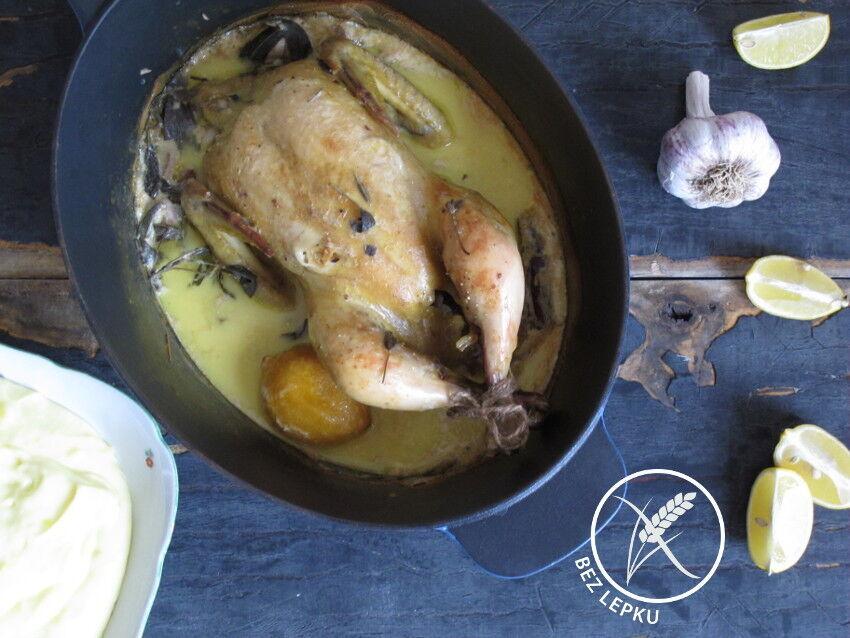 kuře v mléce podle Jamie Olivera