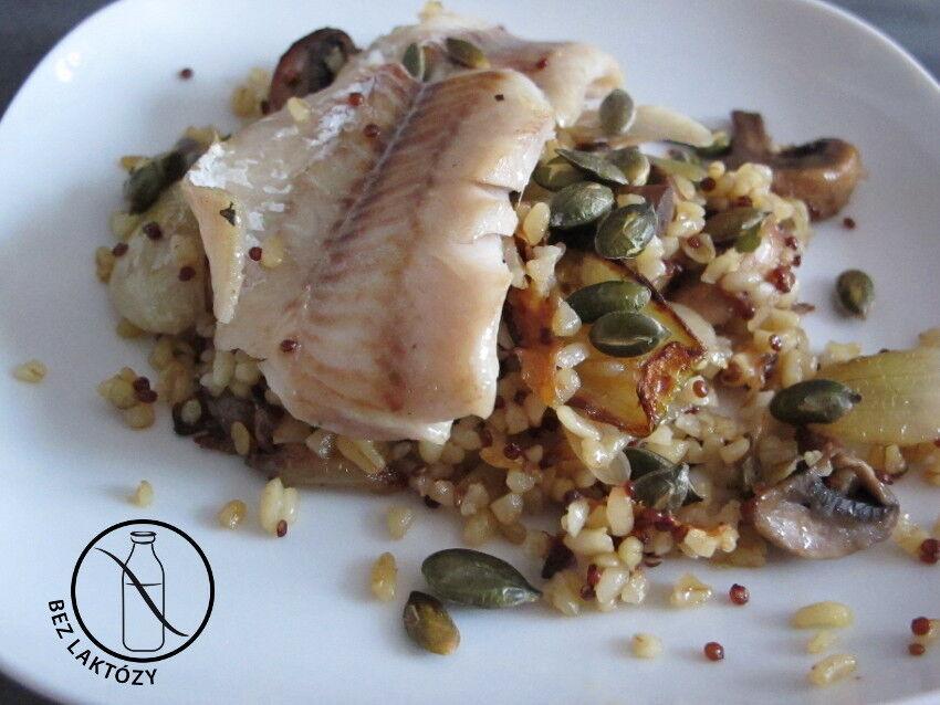 ryba s bulgurem a zeleninou