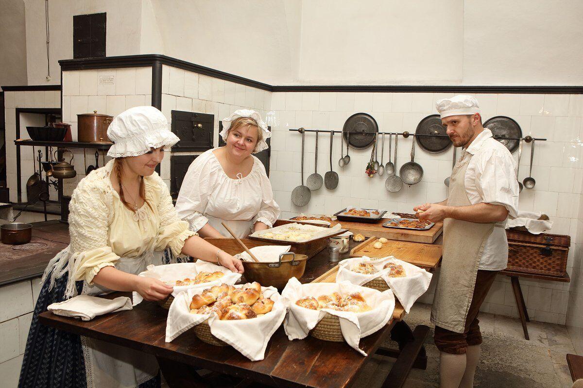 Oživená zámecká kuchyně - Žleby