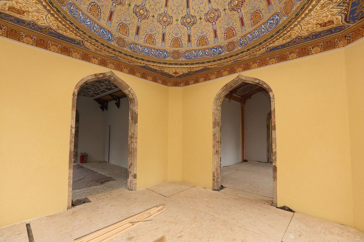 Rekonstrukce minaretu v Lednici, foto: Petr Macák, www.vyletiky.cz