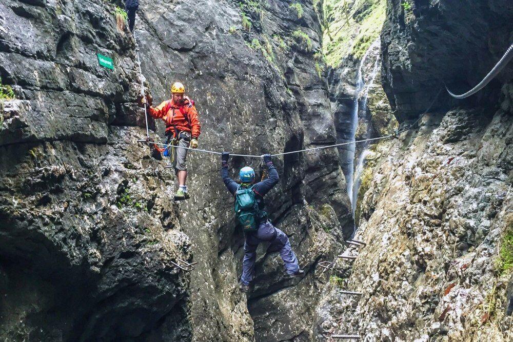 Postalmklamm Klettersteig  -pamatujte, že když překonáte sami sebe, další překážky už budou maličkostí