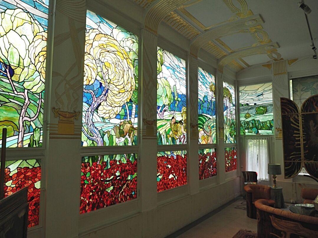 Wagnerova vila -  vitráže