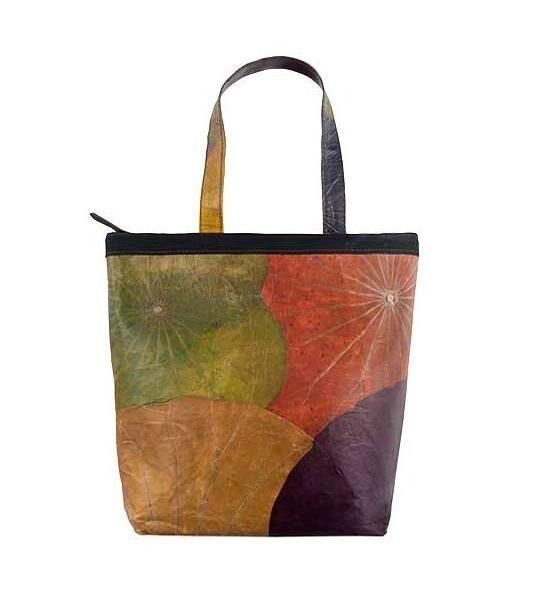 nákupní taška z listů