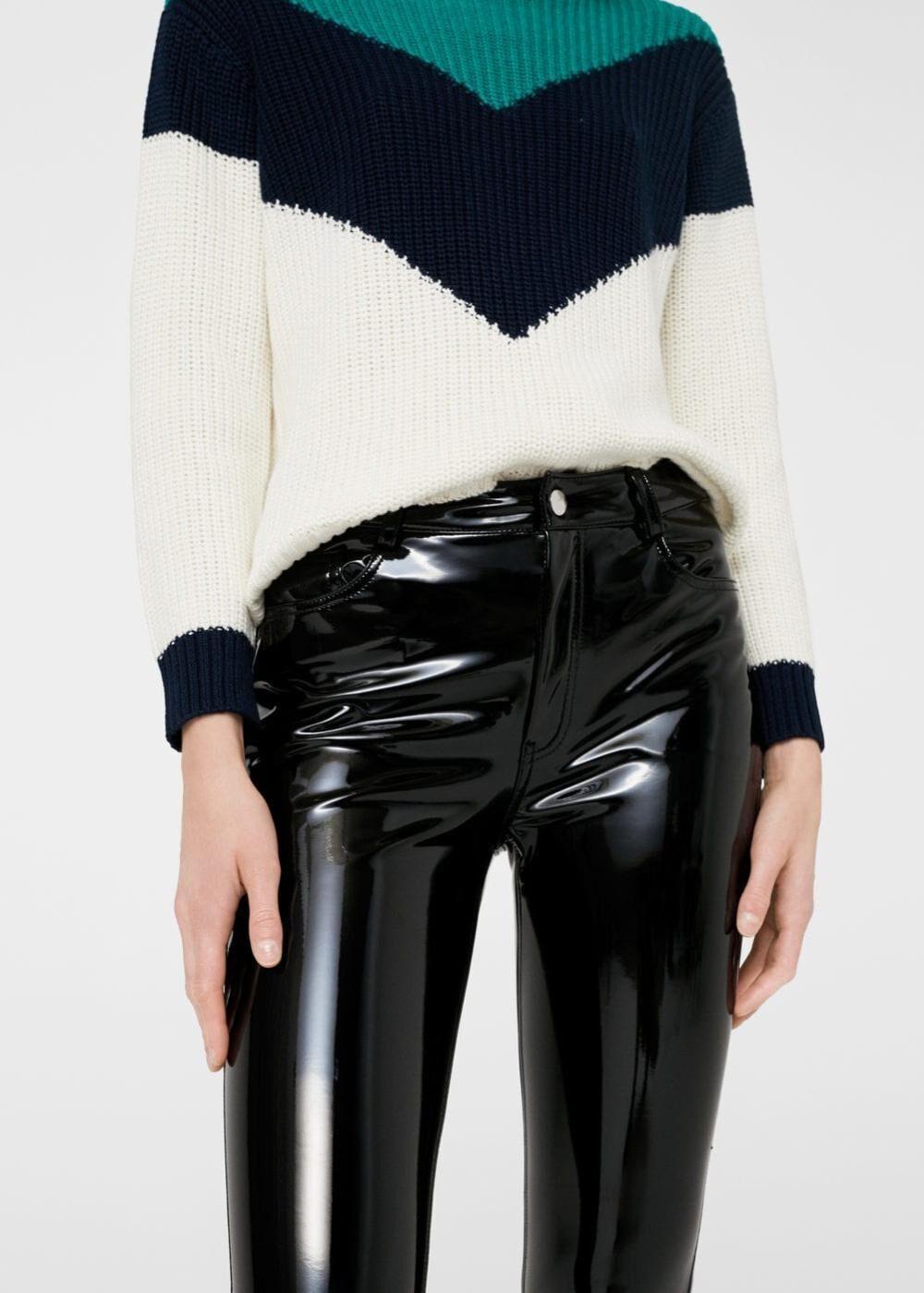 vinyl kalhoty