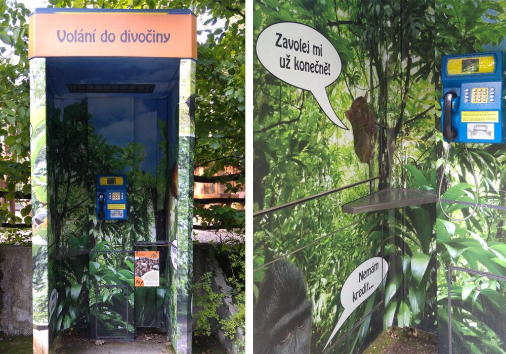 Mluvící telefon v Zoo Děčín