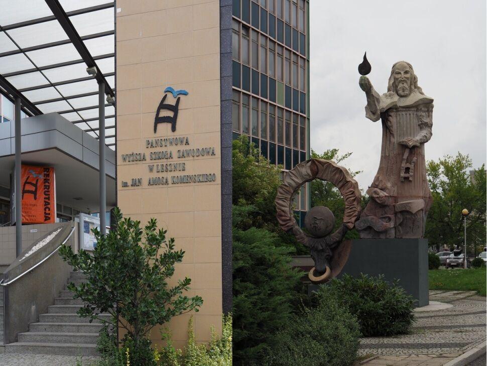 Lešno-moderní socha