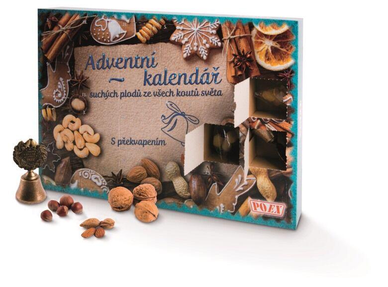 Adventní kalendář suchých plodů ze všech koutů světa s překvapením (328 g)  POEX 610f707717
